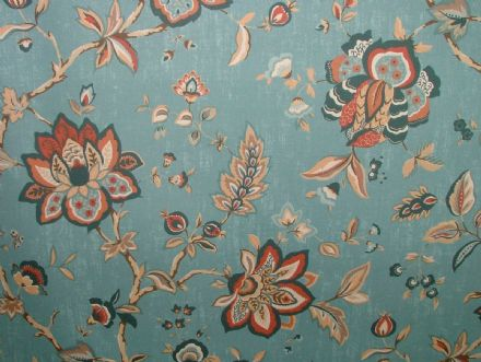 Ashley Wilde WILTON INDIGO FLORAL Curtain /Upholstery /Soft Furnishing Fabric